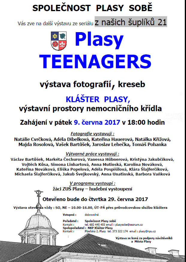 Plasy teenagers - výstava 1